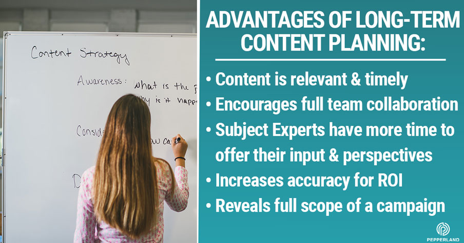 Advantages of long term content planning