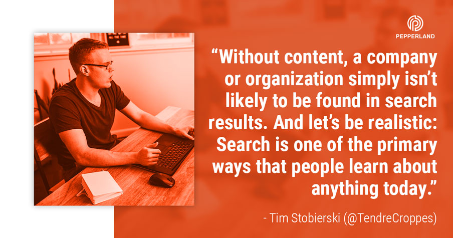 Tim importance of content quote