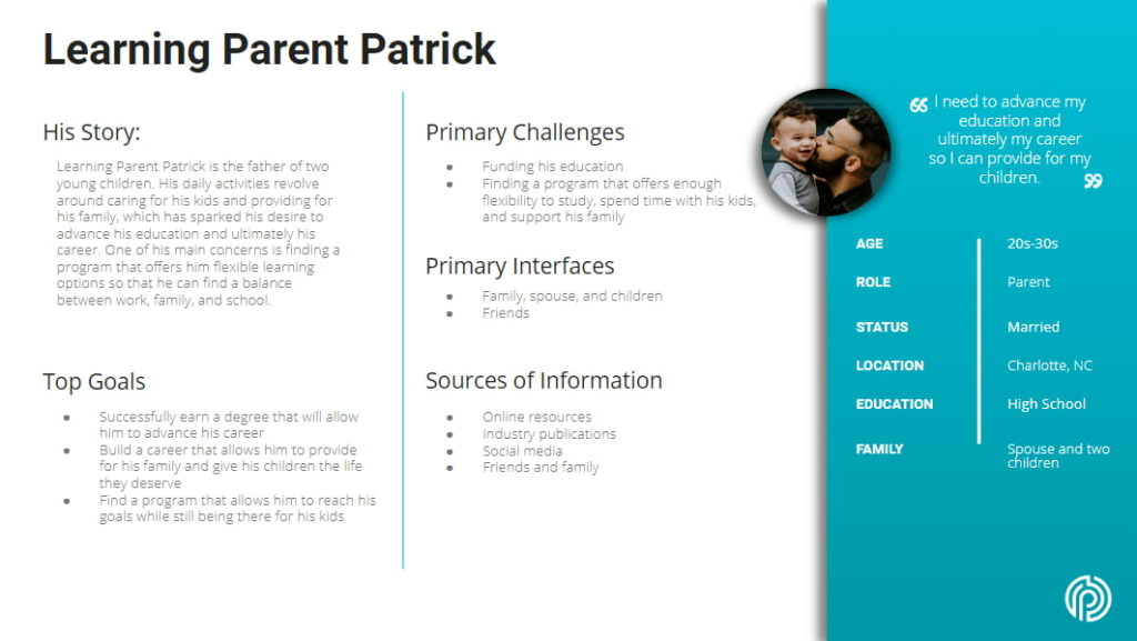 Learning Parent Patrick Persona