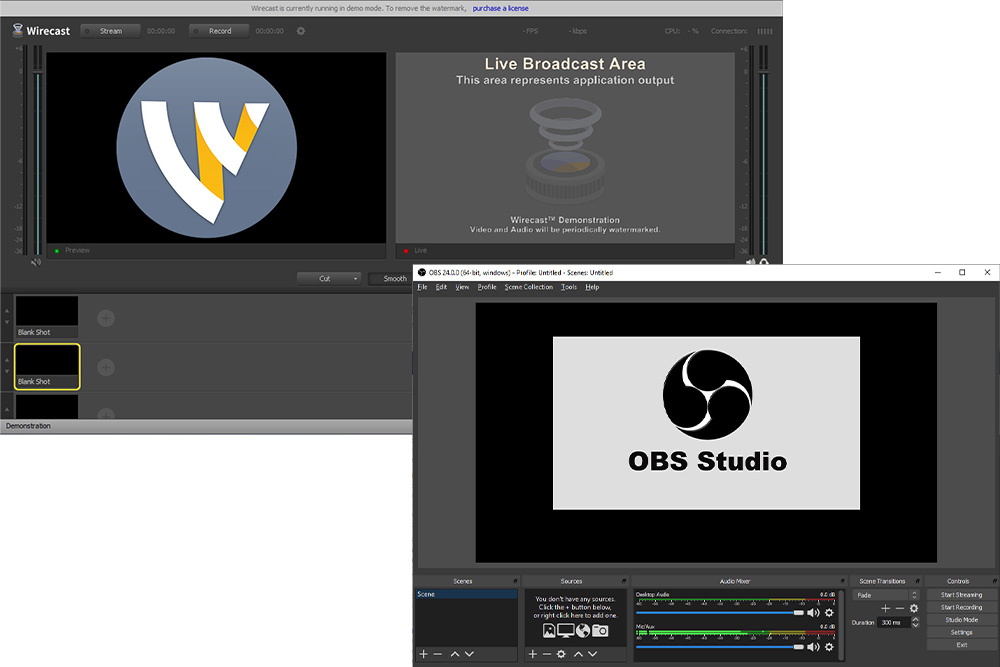 Wirecase OBS Examples with Logos